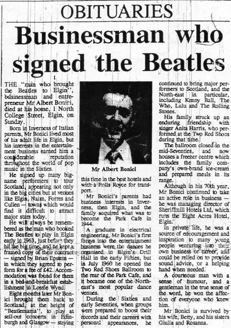 Bonici Obituary 1990