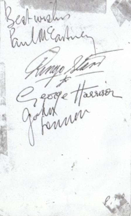 The Beatles Autographs 1963 -