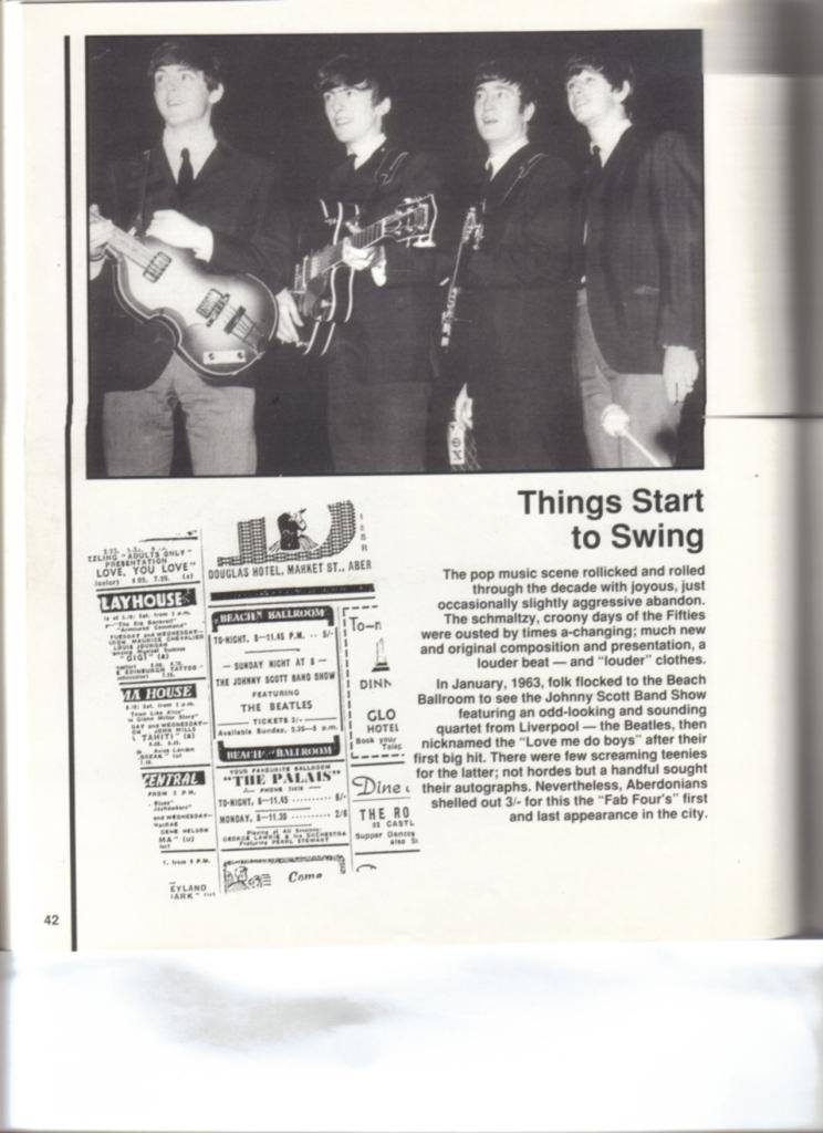 The Beatles,Beach Ballroom,January 1963