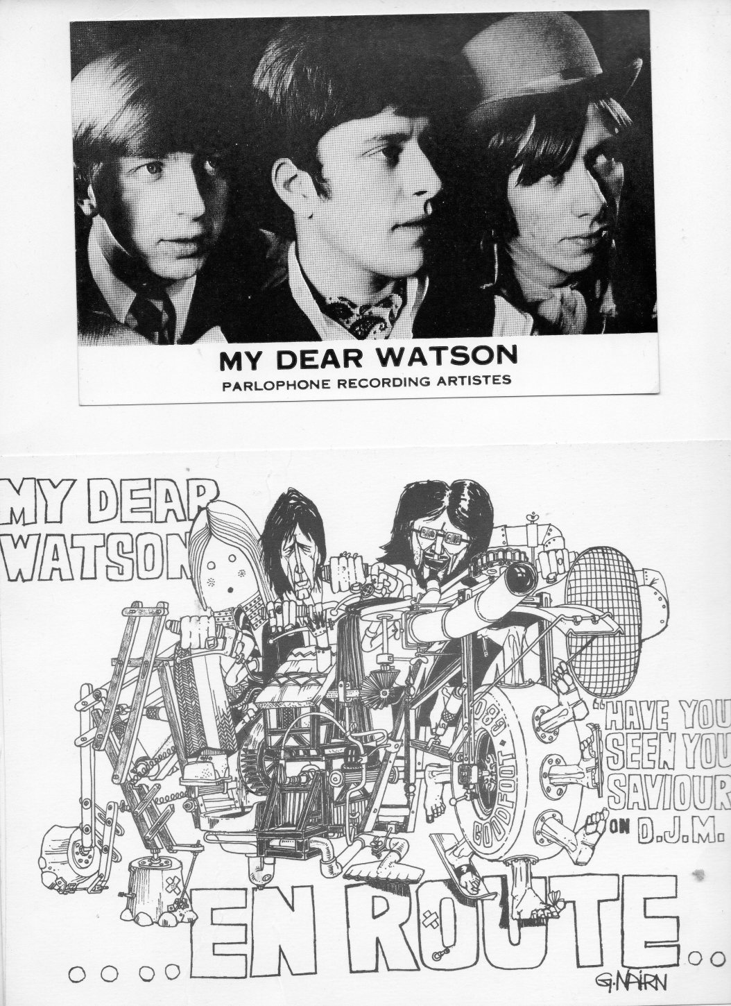 Band members of My Dear Watson [aka Copycats] felt that Graeme Nairn helped them more than the record company to promote their singles.