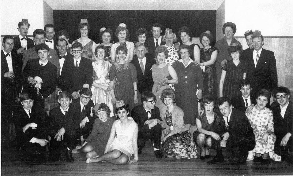 Two Red Shoes Christmas party 1963