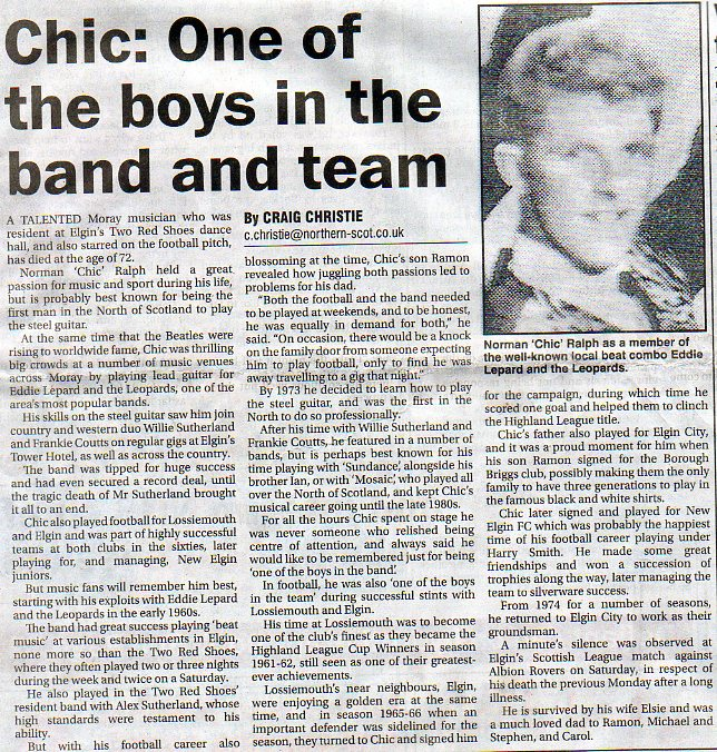 chic ralph obituary northern-scot, elgin 13 feb 2015
