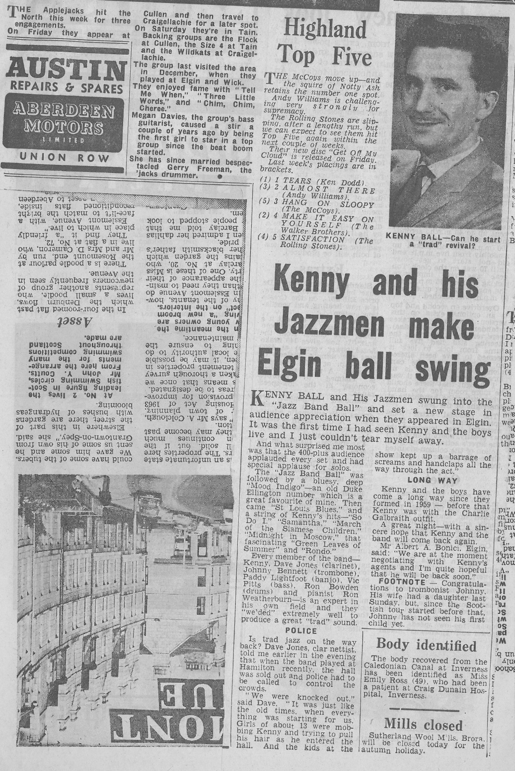 Kenny Ball and his Jazzmen were one of the popular jazz acts who Albert Bonici enjoyed.