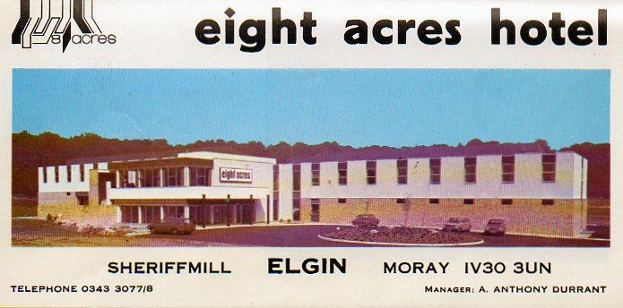 eight acres - elgin scotland