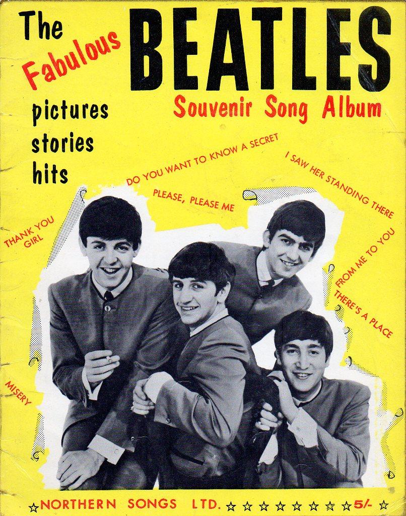 Beatles souvenir song album circa 1963