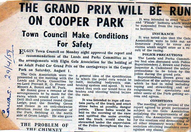Cooper Park track 1959
