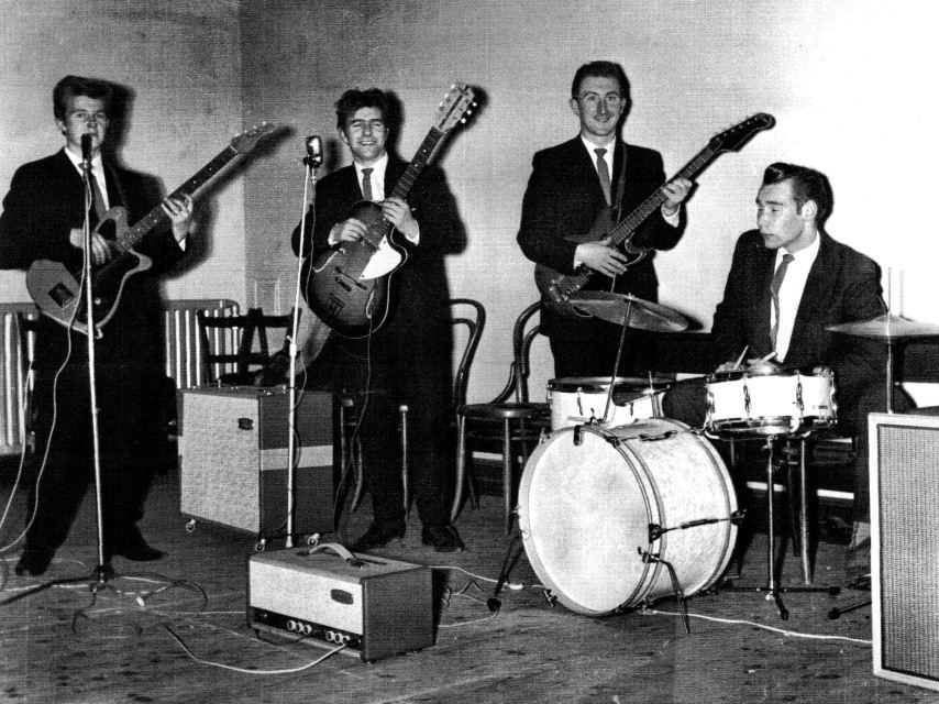 Bert Mackay [third from left] with The Zodiac [circa 1963]