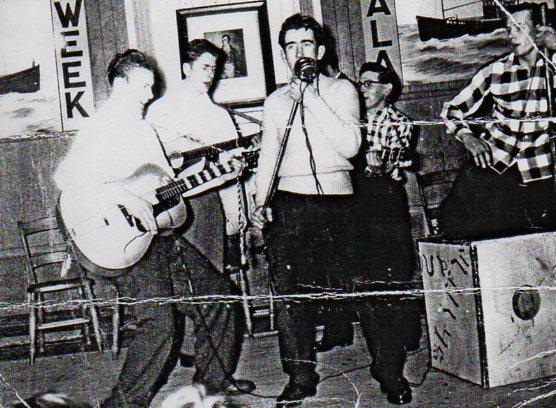 Satch and pre-Saint bandmates.