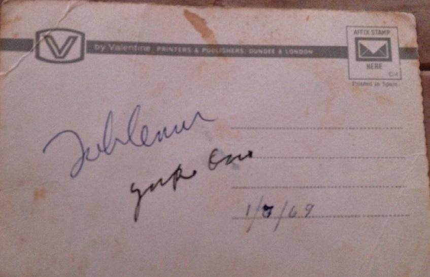 John and Yoko Lennon autograph 1969