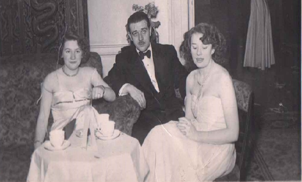 Albert and Betty Bonici - 1941 on a night out with a family friend.