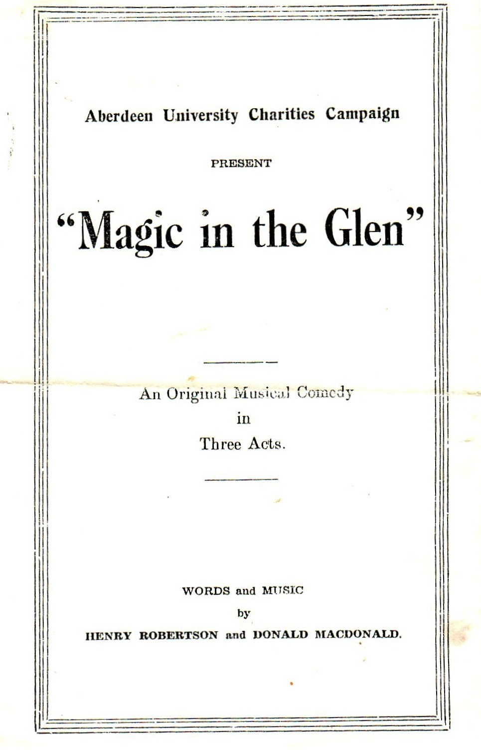 Magic in the Glen - Henry Robertson 1951